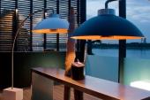 Lamp en terrasverwarmer in één