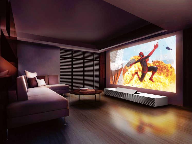 Beamer In Huis : Sony presenteert ingebouwde projector