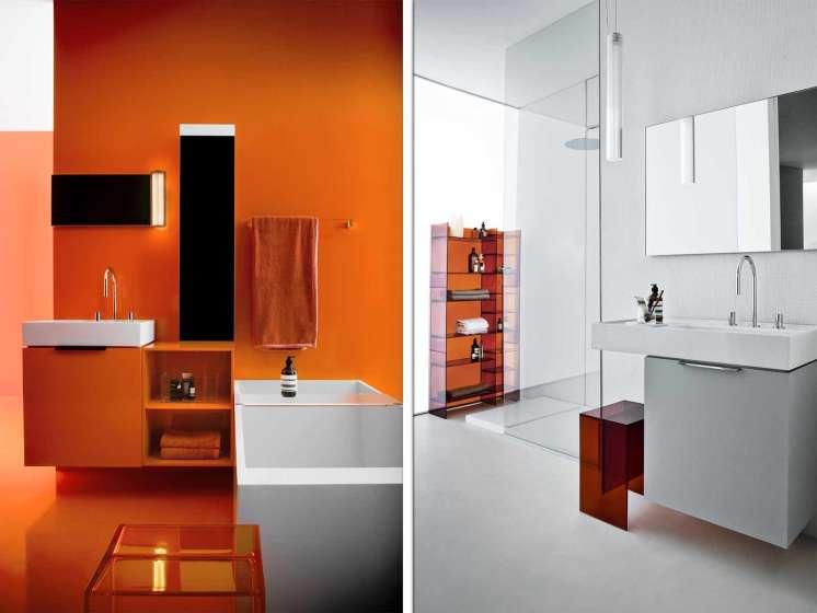 Speels maar ook stijlvol: de Kartell by Laufen-badkamer