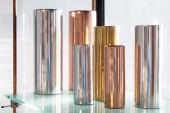 XLBoom stelt Noella voor: aluminium vazen met koper, messing of nikkel jasje