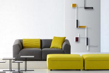 Randomissimo, een Mondriaanse interpretatie van het boekenrek
