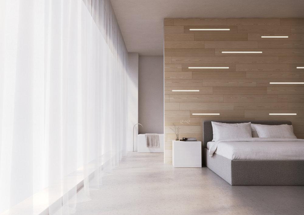 Dit wand- en plafondpaneel heeft ingebouwde ledverlichting